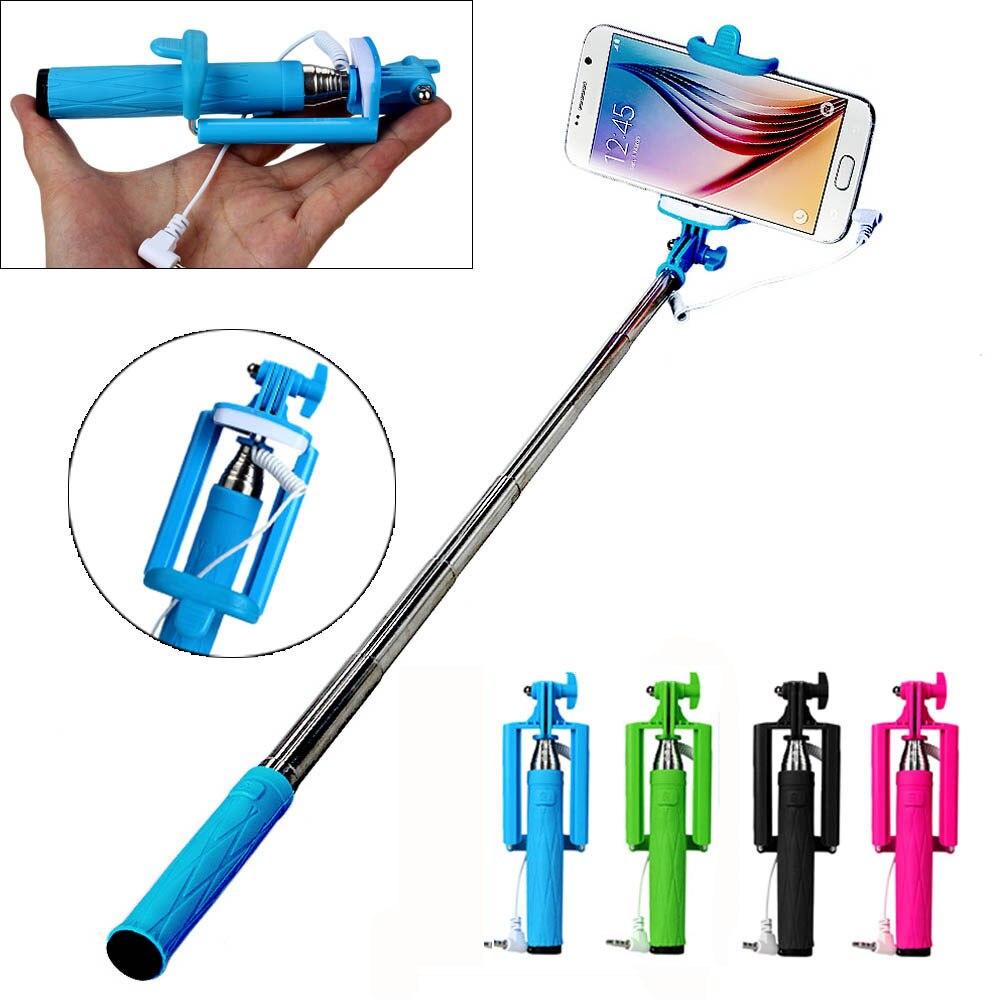 Handheld Extendable Self Portrait Selfie Monopod Stick: Universal Selfie Sticks Gifts Handheld Extendable Self
