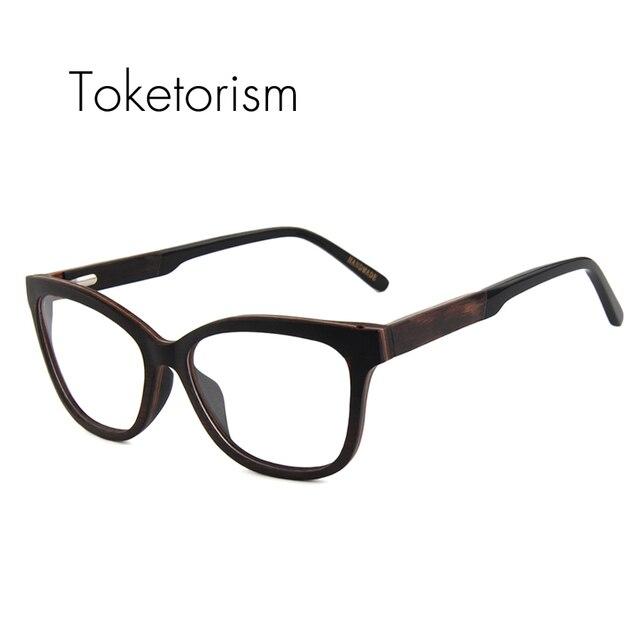 Toketorism vintage wooden frame glasses prescription eyewear frames ...