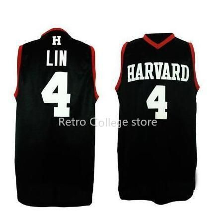 01631f40935 Harvard University #4 Jeremy Lin retro mens Basketball Jersey All Size  Embroidery Stitched Customize any name and name