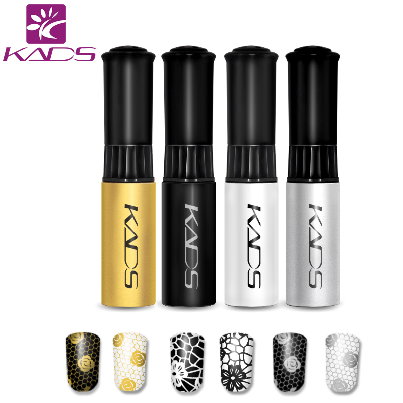 KADS New Trend 4pcs/set Nail Art Stamping Polish High Quality Nail Art Manicure Lacquer Beauty Nail Art Decoration Tools 55pcs nail art dangle ring silver gold bead charm manicure nail art decoration