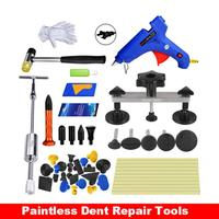 50PCS Auto Dent Repair Tool Pops A Dent Removal Car Body Dent Repair Reverse Hammer Paintless Dent Remover Crowbar Kit