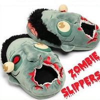 29 cm 1 par Zombie felpa Zapatillas/ravenous Zombie caliente divertido felpa Juguetes regalo 37-42