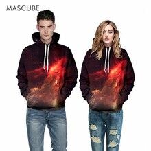 Mascube пространство galaxy 3d кофты мужчины/женщины толстовки с hat печати звезды туманность осень зима тонкий с капюшоном толстовка топы