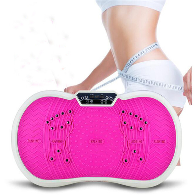 0321a858ad092 Crazy Fit Massage Vibration Plate Body Shaper Exercise Machine Vibro Fitness  Massager Vibrationsplatte Vibrator Slimming Device