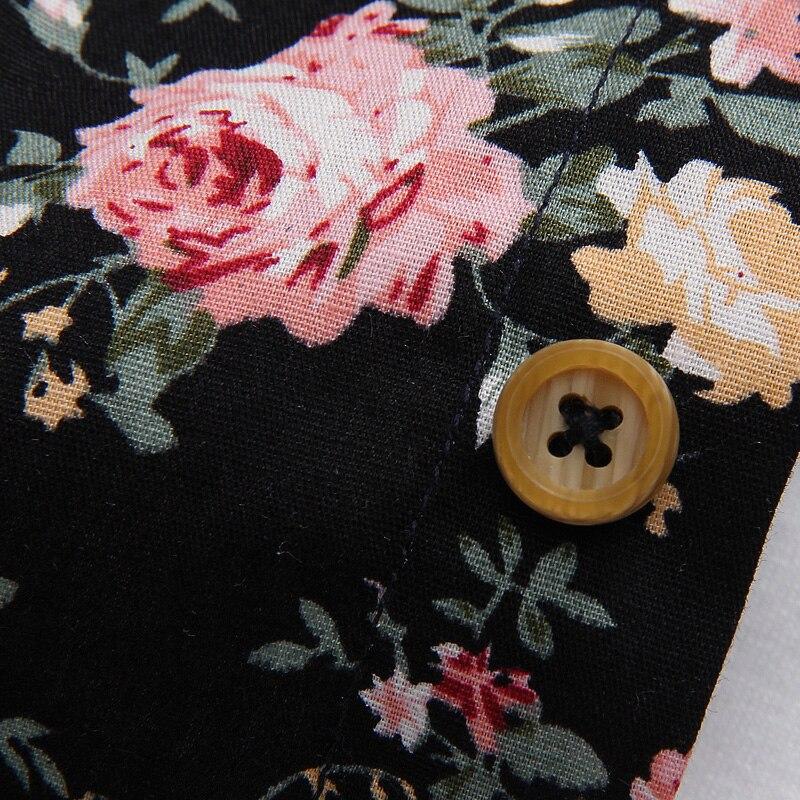 Men Summer Thin Shirts Short Sleeve Floral Shirts New Fashion Men Outwear Casual Slim Shirts Mens Cotton dress shirts 5