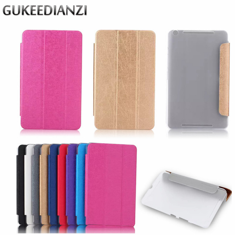 Beautiful Gukeedianzi 3 In 1 Silk Folding Folio Leather Case For Asus Zenpad C 7.0 Z170cg 7 Inch Stand Protective New Fashion Tablet Cover Tablet Accessories Computer & Office