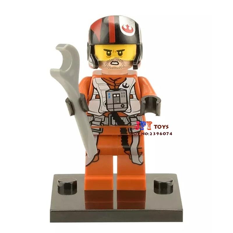Single Sale  Superhero Poe X-wing Pilots Building Blocks Model Bricks Toys For Children Brinquedos Menino