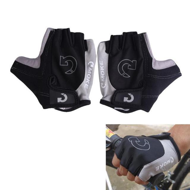 1 par metade do dedo luvas de ciclismo gel bicicleta equitação luvas anti deslizamento para mtb estrada mountain bike luva anti choque esporte 4