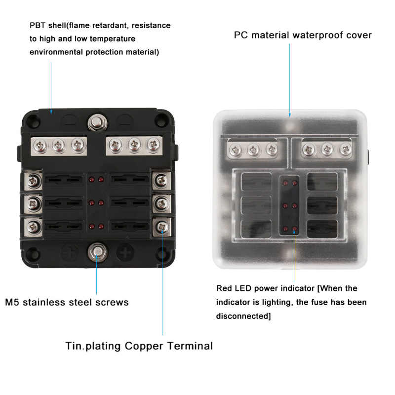 Terrific Detail Feedback Questions About 100A 6 Way 32Vdc Car Fuse Box Buss Wiring Digital Resources Indicompassionincorg