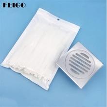 FEIGO 100Pcs Filter Hair Catcher Drain Strainer Disposable Kitchen Sink Stopper Bath Floor F848