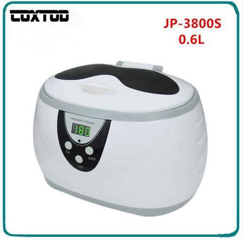 COXTOD JP-3800S Digital Ultrasonic Cleaner Wash Bath Baskets Jewelry Watches Dental 0.6L Ultrasound Mini UltraSonic Cleaner Bath 3 6mm closed system indoor home cameras h 264 infrared ahd 1080p 2 0mp security surveillance outdoor waterproof cctv cameras