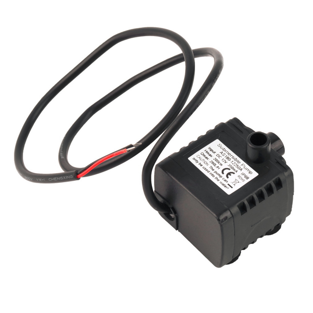12V DC CPU Cooling CAR Brushless Water Oil Pump Waterproof Submersible In Stock!!! mini water pump zx43a 1248 plumbing mattresses high temperature resistant silent brushless dc circulating water pump 12v 14 4w