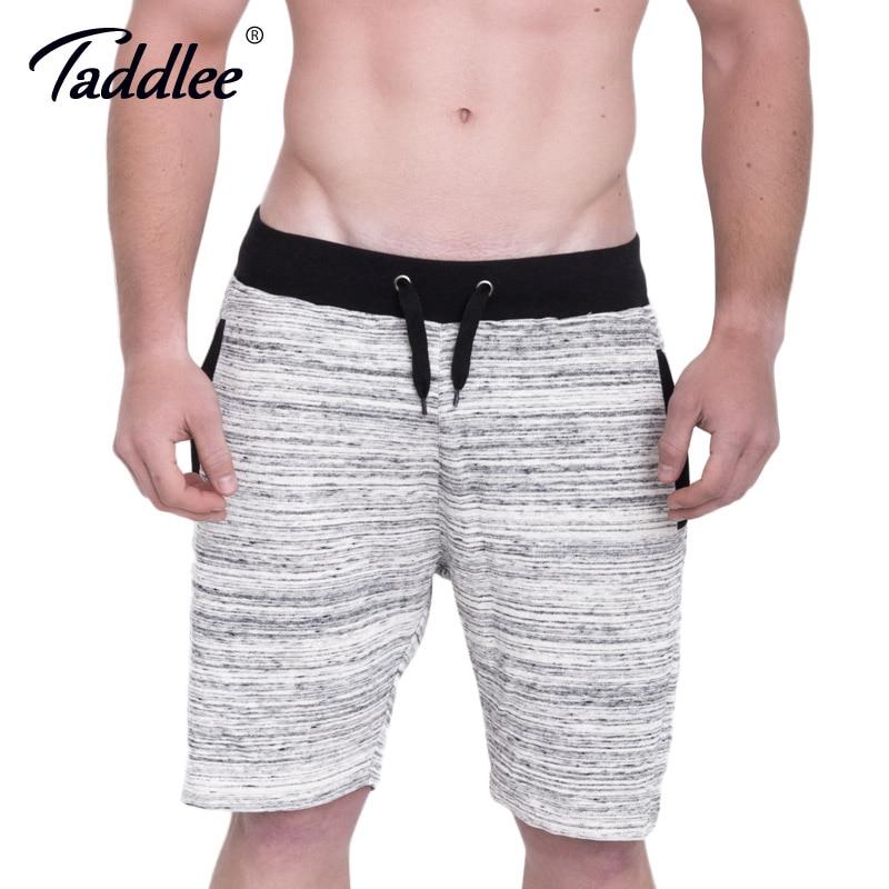 Taddlee Brand Men Sports Running Gym Shorts Cotton Soft Stretch Boxer Trunks Fitness Gasp Bodybuilding Training Short Bottoms
