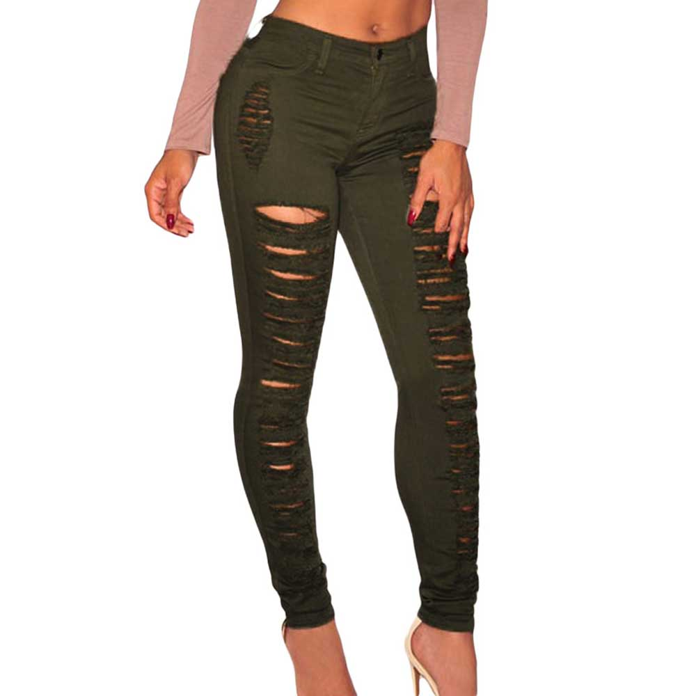 8b74ade1698 Jean Taille Haute Black Jeans White Jeans 2016 Denim Destroyed High Waist Skinny  Jeans Women-in Pants   Capris from Women s Clothing on Aliexpress.com ...