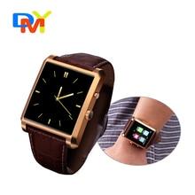 New Bluetooth Smart Watch DM08 font b Smartwatch b font Luxury Leather IPS Business Wristwatch For
