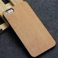 DHL 50 Pcs Lot Full Stick Wood Plastic Back Cover For IPhone 6 Plus 5 5