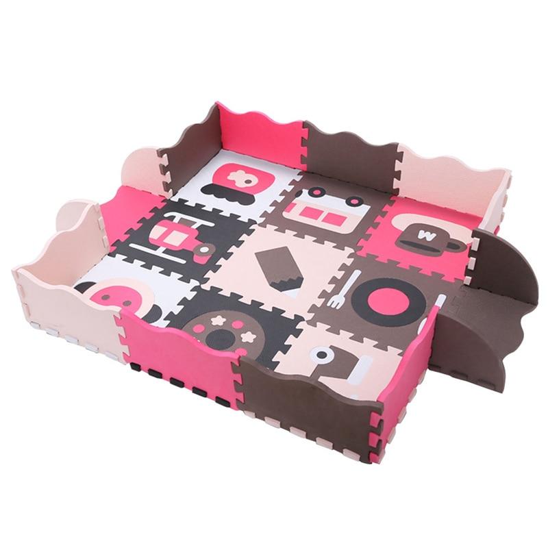 Bébé assembler tapis de jeu enfants mousse clôture ramper jeu coussin enfants imperméable Puzzle Portable chambre salon tapis Pad