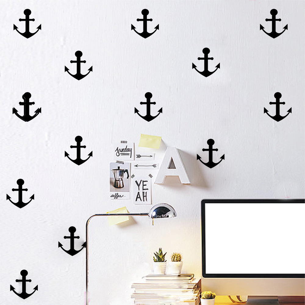 online get cheap anchor wall stickers aliexpress com alibaba group nordic style ocean anchor wall sticker home decor cartoon anchor wall stickers for kids room bedroom decorative wall art decals