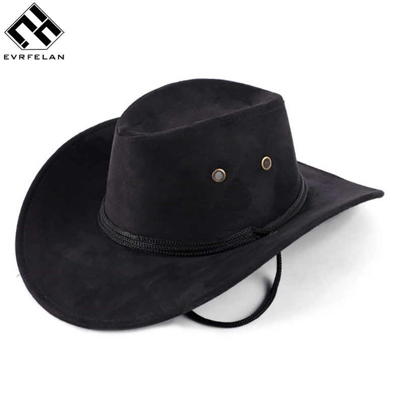 3fc8f961 Hot Sale New Unisex Fashion Western Cowboy Hat Solid Tourist Cap Outdoor  Wide Brim Jazz Caps Gorras Free Shipping Wholesale