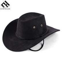 e715a84e38f Hot Sale New Unisex Fashion Western Cowboy Hat Solid Tourist Cap Outdoor Wide  Brim Jazz Caps