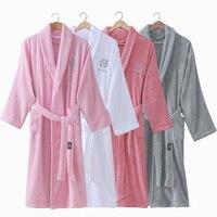 Thick Cotton Bathrobe For Men Women Long Kimono Robe Homme Winter Warm Bath Robe Male Nightgown Nighties Casual Home Clothing