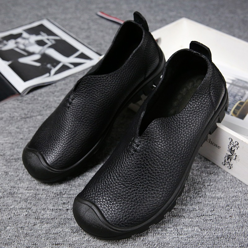 Genuine Leather Shoes Men Cow Leather Casual Shoes Male Outdoor High Quality Men Black Flats 3 Style Lace-Up Man Footwear Sex3 urbanfind genuine leather men shoes black white footwear plus size 39 47 high quality man lace up casual flats 45 46 47