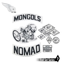 Mongols MC Patches Biker Back Nomad Rocker Patch Free Rider Motorcycle Embroidered Jacket Vest Badge Back Size Iron On цена и фото