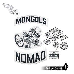 Image 1 - Mongols mc colete bordado nomad rocker, jaqueta para motociclistas, motociclista, costas, tamanho traseiro
