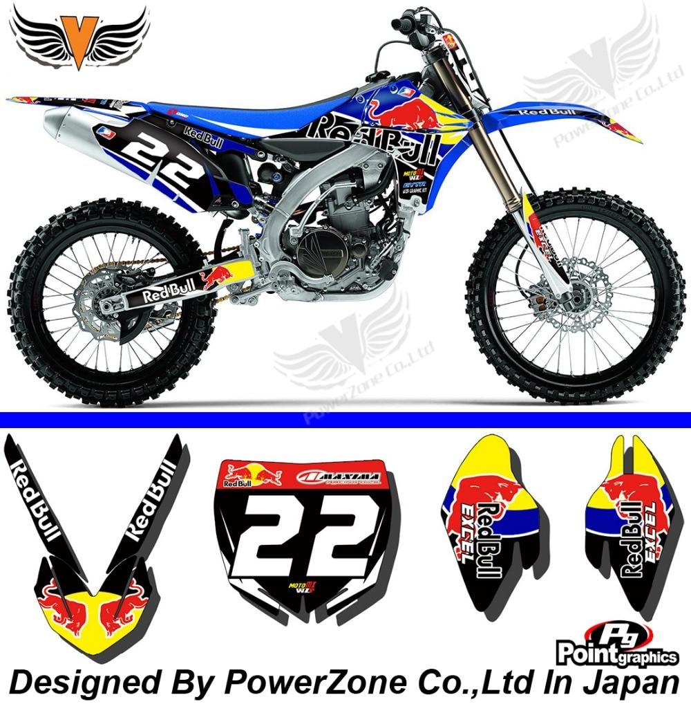 Yamaha bike sticker designs - Yzf 450 2010 2011 2012 2013 Team Graphics Backgrounds Decals Stickers Motor Cross Motorcycle Dirt Bike