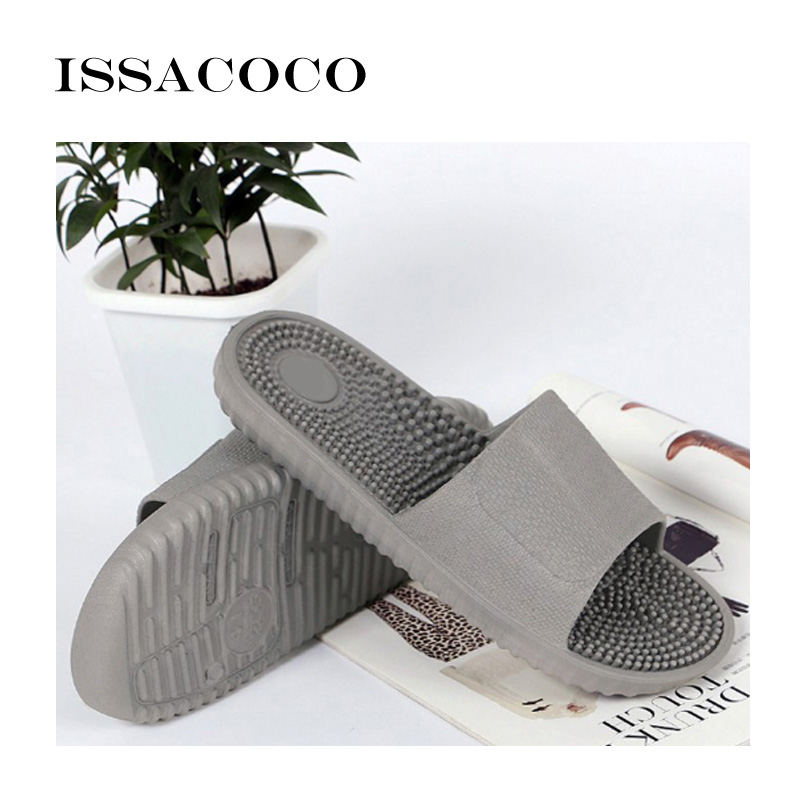 ISSACOCO 2018 Shoes Men Slippers Sandals Indoor Home Non-slip Solid - Men's Shoes - Photo 6