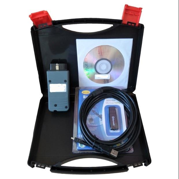 VAS 5054A 5054 Odis V4.33 V4.41 para VW Audi Skoda OBD2 herramienta de diagnóstico Bluetooth Oki Chip Uds Protocolo Obd2 escáner Mini elm327 Bluetooth V2.1 / V1.5 OBD2 herramienta de diagnóstico de coche ELM 327 Bluetooth para Android/Symbian para el protocolo OBDII