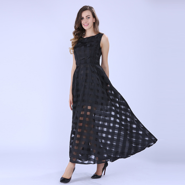 Black Plaid Vintage Dress
