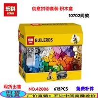 New Lepin 42006 Classic DIY 612 Pcs Creative Building Blocks Bricks Game Educational Toys For Children