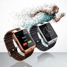 Smartwatch dz09 deporte inteligente sim electrónica digital de muñeca reloj teléfono con hombres mujeres para dispositivos portátiles de apple android wach