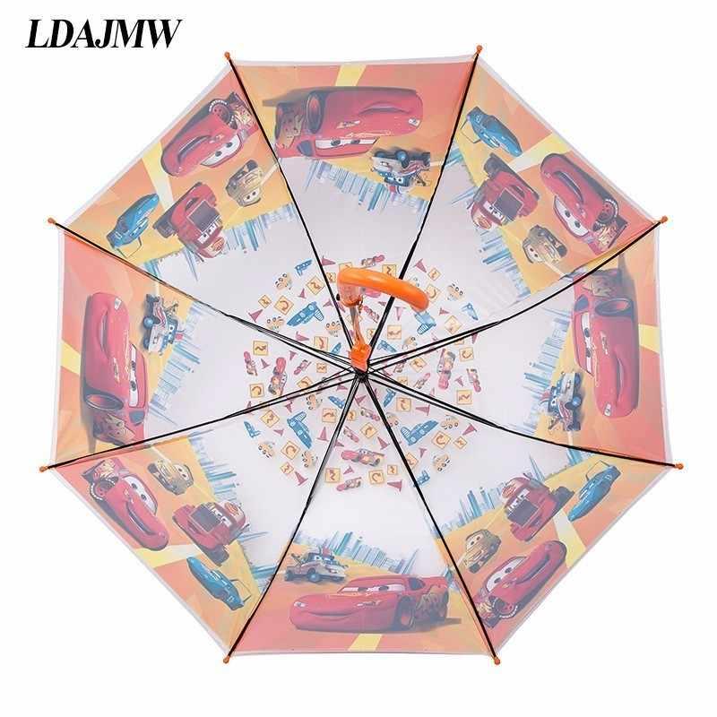LDAJMW Горячая Прекрасный мультфильм зонтик для защиты от солнца школьников длинная ручка зонтик для детей девочек мальчиков подарки