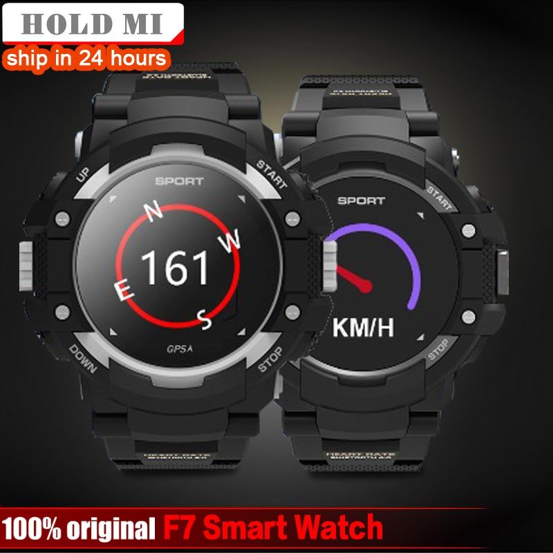 F7 gps Смарт-часы человек IP67 Водонепроницаемый Цвет ЖК-дисплей сердечного ритма Температура монитор мультиспорт Открытый Спорт Мода Smartwatch