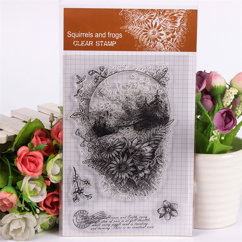 все цены на Rubber Silicone Clear Stamps for Scrapbooking Tampons Transparents Seal Background Stamp Card Making Diy Grassland Text Stempel