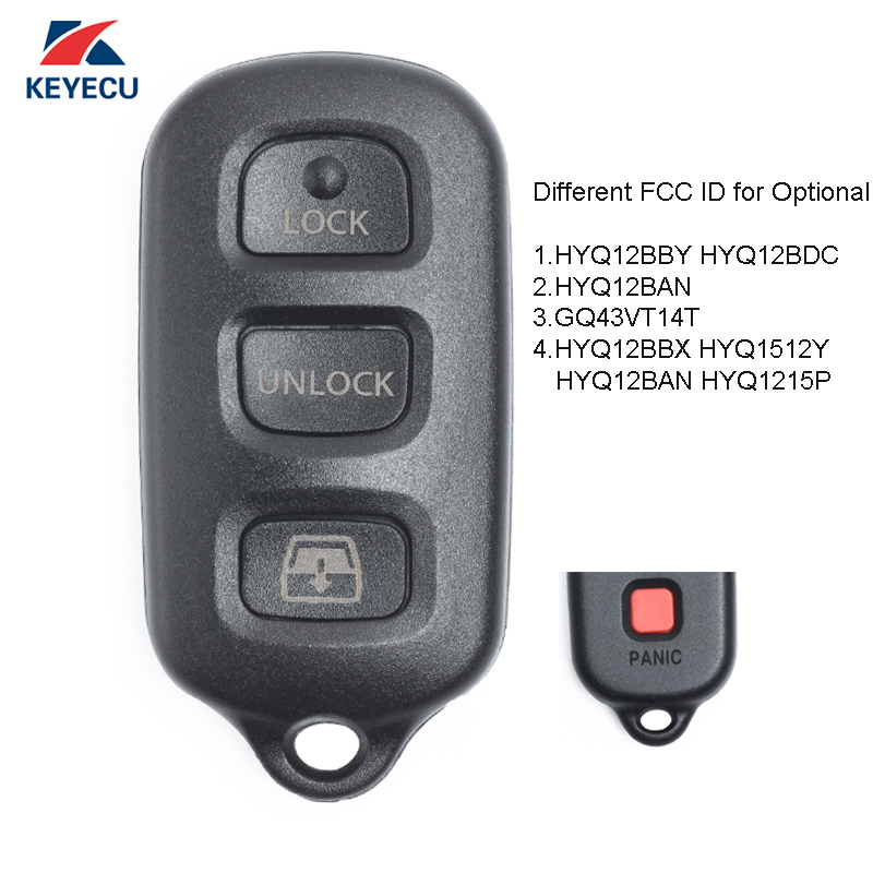 KEYECU Replacement Keyless Entry Remote Control Key Fob 3 1 Button for Toyota