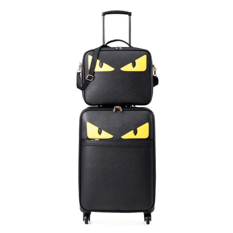 """CARRYLOVE di lusso di marca mostro set di valigie 20 """"spinner cuoio cabina trolley valigia per le ragazze-in Valigia a rotelle da Valigie e borse su  Gruppo 1"""