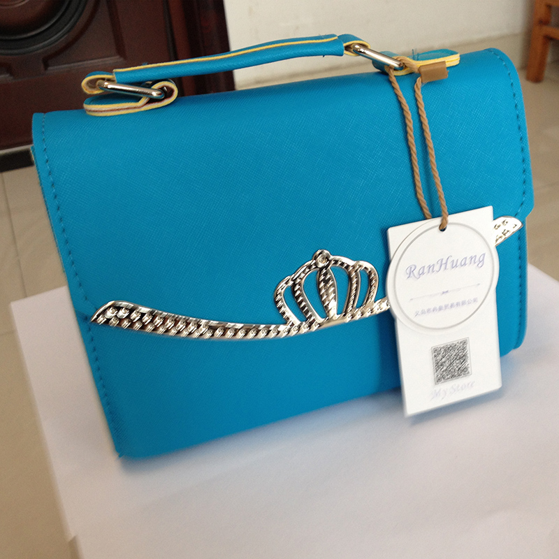 RanHuang Women Candy Color Casual Handbags PU Leather Small Shoulder Bags Female Designer Messenger Bags Blue bolsa feminina A35 6