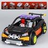 Lepin 20053 640pcs Black/Blue Technic Series Hatchback Type Remote Control RC Car MOC-6604 Building Block Brick Toy for Boy
