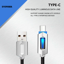 NEW Type-c phone USB Cable Smart change Light Data Sync Fast Charger type c 2A usb Charging Cables for huawei