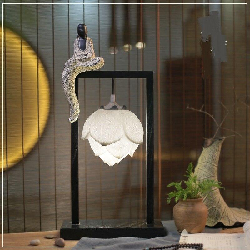 Классический китайский настольные лампы исследования спальня гостиная ночники Минималистский новые творческие настольные лампы za8149