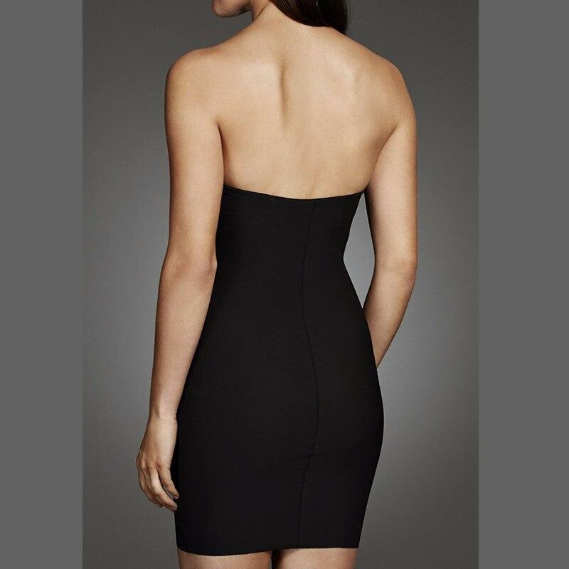 Image 3 - Womens Sculpt Strapless Contour Bra Slip Dress Sexy Smooth Seamless ShapewearControl Slips   -