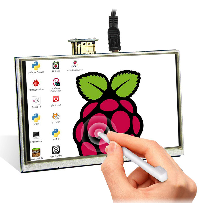 toque raspberry pi 3 display hd interface