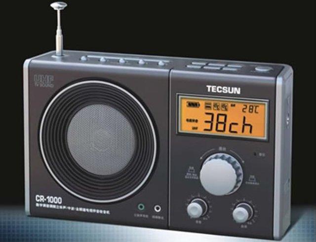 TECSUN CR-1000 AM FM TV Band Digital Radio CR1000