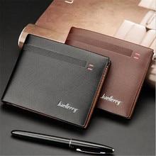 Baellerry Top quality thin wallet men purse money short men wallets slim fashion simple leather wallet men wholesale price