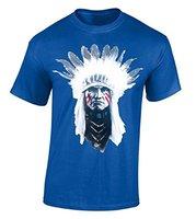Cotton Jersey Mens Tees Trưởng Ấn Độ T-Shirt Dân Tộc Native American Tinh Thần Áo Sơ Mi Nghi Mềm Buổi Hòa Nhạc Tees