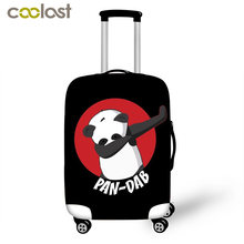 Kawaii Panda Dab on em Suitcase Protective Cover Pandicorn Anti-scratch Luggage Cover With Zipper Closure Travel Accessories(China)