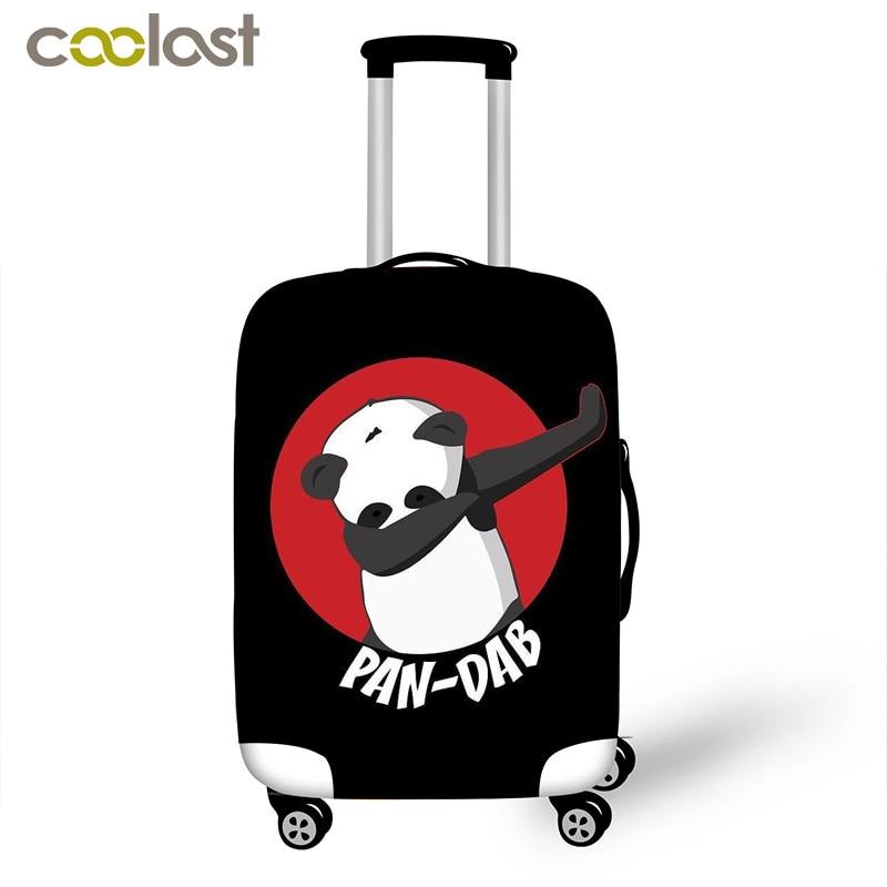 Kawaii Panda Dab em los Pandicorn Mala Capa Protetora Anti-scratch Tampa Com Fechamento Com Zíper Acessórios de Viagem Bagagem
